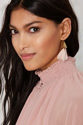 Nasty Gal Nest Level Feather Earrings
