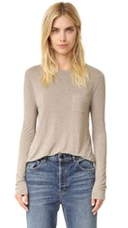 Alexander Wang Classic Cropped Tee Taupe