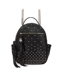 Alexander Mcqueen Studded Leather Chain Backpack Black