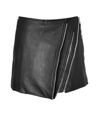 Barbara Bui Leather Mini Skirt With Zip Detailing