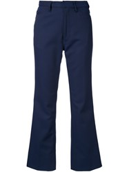 Theatre Products Flared Crop Trousers Blue