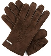 Corneliani Suede Gloves Brown