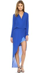 Mason By Michelle Mason Long Sleeve Maxi Dress Blue