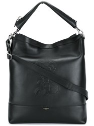 Givenchy Cobra Snake Embossed Shoulder Bag Black