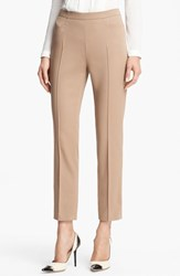 Women's Akris Punto 'Franca' Techno Cotton Pants Sand