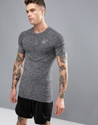Sik Silk Siksilk Compression T Shirt With Logo Grey
