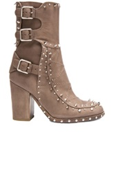 Laurence Dacade Baulence Calfskin Leather Booties In Gray