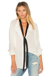 Smythe Tie Neck Shirt White