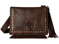 Sts Ranchwear The Miss Kitty Crossbody Chocolate Cross Body Handbags Brown
