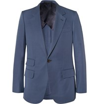 Kingsman Blue Eggsy Slim Fit Cotton Suit Jacket Blue