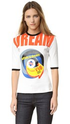 Victoria Beckham Mid Sleeve Tee Ivory Dream Graphic