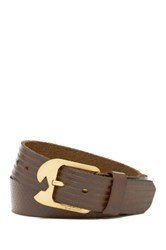 Volcom Ostrich Embossed Leather Belt Brown