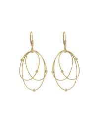 18K Gold Caviar Ball 3 Hoop Earrings Lagos