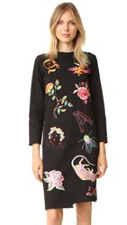 Aries Liberace Embroidered Xy Dress Black