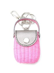 Serpui Straw Keyring Pink And Purple
