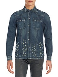 Diesel Black Gold Distressed Denim Sportshirt