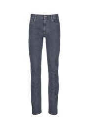 Canali Straight Leg Cotton Jeans Grey