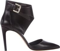 Jean Michel Cazabat Ankle Wrap Evelyn Pumps Black