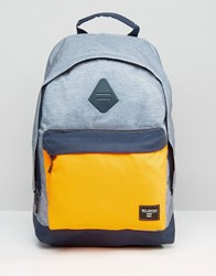 Billabong All Day Backpack In Charcoal And Orange Grey