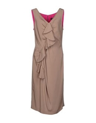 Ivan Montesi 3 4 Length Dresses Dove Grey