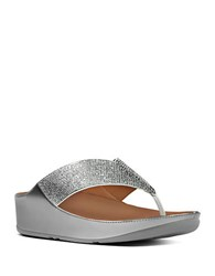 Fitflop Crystal Tm Thong Sandals Silver