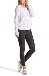 Women's Lamade Long Sleeve Thermal Tee With Thumbhole Cuffs White