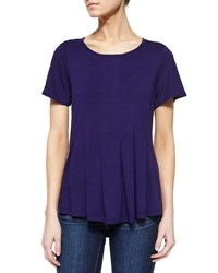 Design History Pleated High Low Tee Catalina B