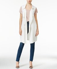Bar Iii Draped Open Front Vest Only At Macy's Washed White