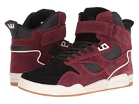 Supra Bleeker Andorra Black White Men's Skate Shoes Red