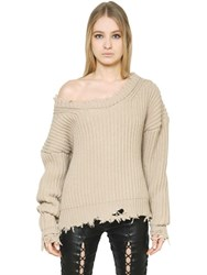 Unravel Destroy Mohair And Cashmere Sweater