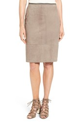 Elie Tahari Women's 'Teresa' Suede Pencil Skirt