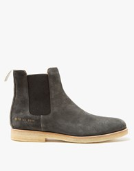 Common Projects Chelsea Boot In Black Suede