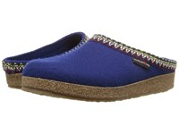 Haflinger Zig Zag Pacific Women's Clog Shoes Blue
