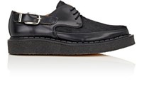 Comme Des Garcons Men's Leather And Pony Hair Creeper Derbys Black