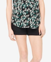 Motherhood Maternity Cuffed Shorts Black