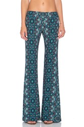 Gypsy 05 Printed Bell Bottom Pant Green