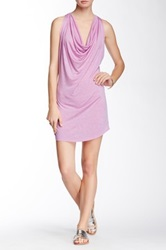 Riller And Fount Britney Draped Front Fitted Mini Dress Pink