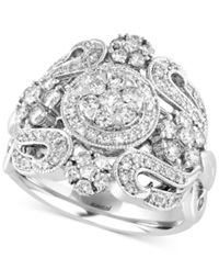 Effy Collection Effy Diamond Vintage Ring 1 1 10 Ct. T.W. In 14K White Gold
