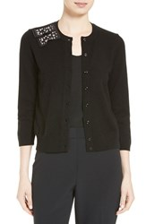 Kate Spade Women's New York Embellished Bow Cardigan