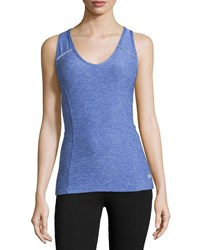Marika Tek Metro Mesh Back Tank Heather Blue Bolt