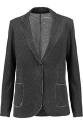 Majestic Cotton And Cashmere Blend Blazer Charcoal