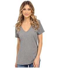 Hurley Staple Perfect V Tee Carbon Heather Women's T Shirt Gray