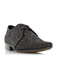 Dune Ricky M Glitter Derby Shoes Black