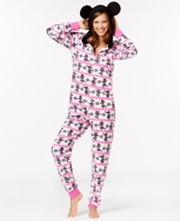 Briefly Stated Minnie Mouse Adult Hooded Onesie