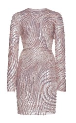 Zuhair Murad Fully Beaded Mini Tulle Dress Pink