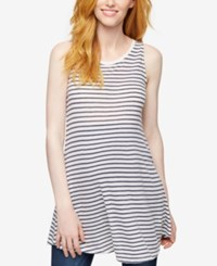 A Pea In The Pod Maternity Striped Tunic Navy White