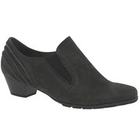 Gabor Chic Closed Court Shoes Anthracite Nubuck