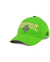 Adidas Seattle Sounders Fc Performance Slouch Adjustable Cap Lime