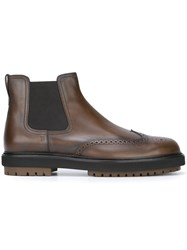 Tod's Chunky Sole Chelsea Boots Brown