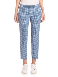 Akris Punto Gingham Print Trousers Chalk Tarn